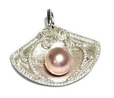 Stylish Design Edison Purple Pink Round 9.1mm Pearl Vintage Pendant