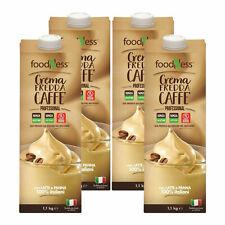 FoodNess Crema Fredda al Caffè Senza Glutine e Senza Lattosio già pronta 4x1 KG
