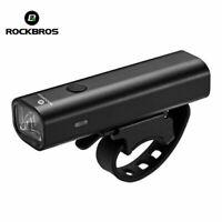 ROCKBROS Bike Light Waterproof Head Front Light USB Rechargeable 400Lumens Black