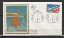 FDC soie 1976 Concorde Paris - Rio de Janeiro oblit. Paris /L4636