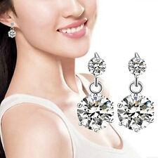 1 Pair Lady Fashion Silver plated Korean Rhinestone Earings C09