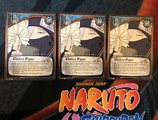 Naruto CCG Chakra Paper M-748 S20 x3 Play Set Naruto Card Non-F