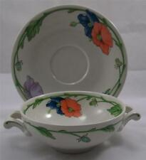 Villeroy & and Boch AMAPOLA cream soup bowl / coupe and saucer
