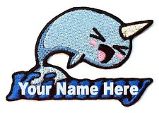 Narwhal Custom Iron-on Patch With Name Personalized Free