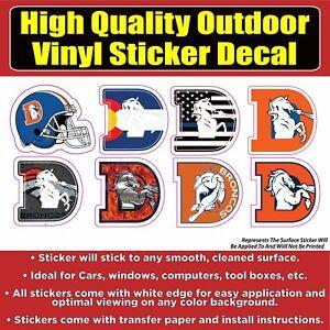 Denver Broncos D Variety Sticker Pack Vinyl Car Window Laptop Bumper Sticker Dec