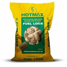 Bedmax Hotmax Low Emission Fuel Logs Wood Burner/Stoves/Fires/BBQs 20kg Bag