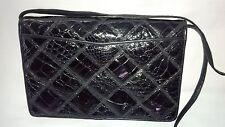 Venetto by Ami Kahn Black Vintage Alligator Patchwork Design Shoulder Bag/Clutch