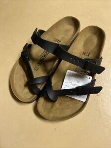 Birkenstock Womens Leather Sandal - Black-Mayari Size 37