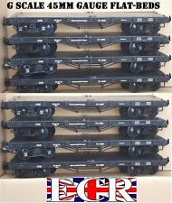 8 X G SCALE 45mm GAUGE FLATBED TO BUILD ON. RAILWAY TRUCK GARDEN TRAIN FLAT BED