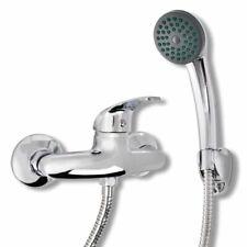 vidaXL Bath Shower Mixer Tap Kit Chrome Showerhead with Hook 1.5m Hose Fixture