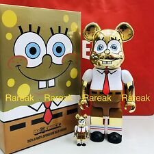 Medicom Be@rbrick 2020 Nickelodeon SpongeBob Gold Chrome 400% + 100% bearbrick