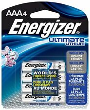 Energizer AAA Ultimate Lithium 4 Pack L92BP Battery in Retail Packaging