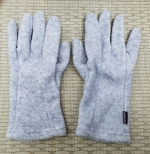 Patagonia L-XL Mens Gray Synchilla Fleece Gloves USA Made 34680 Vintage EUC