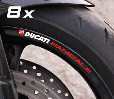 8 x Ducati Panigale wheel decals rim stickers stripes new 899 1199 Laminated!