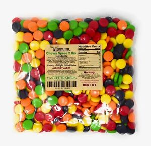 Chewy Spree Candy, 2 lbs. ~ YANKEETRADERS ~ FREE SHIPPING