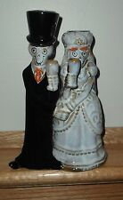 YANKEE CANDLE HOLDER'S 2014 FRIDAL ~ HALLOWEEN/ BRIDAL BONEY BUNCH PAIR ~ NEW