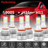 9005+H11+H11 LED Headlight Kit Hi-Lo Fog Lights 6000K for Toyota Camry 2007-14