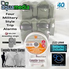 4 military style trip alarms Camp Security-100yd. trip line covers 5,650sq.ft.