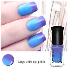 6ml Thermal Color Changing Peel Off Polish Nail Varnish Dark Blue to Light Blue