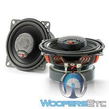 "Focal Icu100 4"" 2Way Aluminum Tweeters Built In Crossovers Coaxial Speakers New"