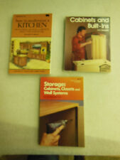 (3) Woodworking Cabinet Books - how to build cabinets & built-ins & closets etc.
