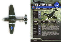 Axis & Allies Angels 20 miniatures 1x x1 P-51B Mustang Ace base set Air Force