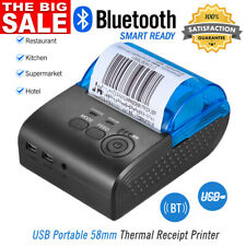 58mm Thermal Printer Label/Reciept/Barcode/POS USB Bluetooth Android iOS Windows