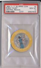 ROBIN YOUNT 1984 7-11 Slurpee Coin Central Region #II PSA 10 BREWERS HOF