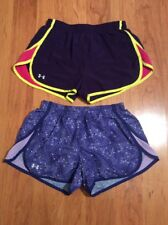 Under Armour Women's Headgear Running Tempo Shorts Lot Of Two Purple Size S