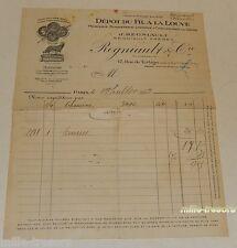 FACTURE 1933 : DEPOT du FIL à la LOUVE - Mercerie - Bonneterie - Lingerie