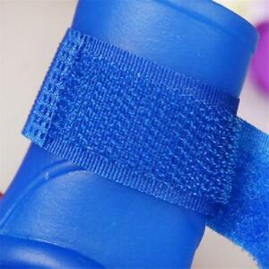 4Pcs Pet Supplies Dog Cats Anti-Slip Waterproof Shoes Solid Color Rain Boots