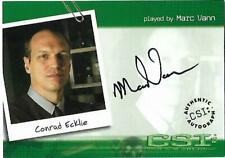 CSI : Crime Scene Investigation Autograph Card CSI- A21 Ecklie **** BINDER ****