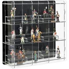 Sora Collectable Figure Display Cabinet With Pedestals Back-panel Black