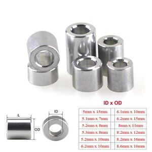 M5 M6 M8 Aluminum Alloy Bushing Gasket Round Sleeve Unthreaded Spacers Standoff