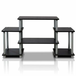 Furinno 11257Bk/GY Turn N Tube No Tools Entertainment TV Stands Black/Grey