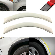 2pcs Universal White Carbon Fiber Car Fender Flares Wheel Eyebrow Lip Decoration