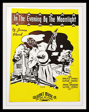 """1937 """"In The Evening By The Moonlight"""" By James Bland Calumet Music Chicago IL"""
