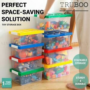4x Truboo Toy Storage Box Kids Building Blocks Organiser Container For Lego