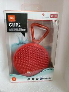 NEW JBL Clip 2 Red Speaker Portable Wireless Bluetooth Waterproof Rechargeable