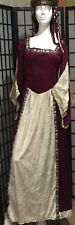 Maid Marian Renaissance Medieval Gown & Braided Head Piecel-2 Pc Costume-Medium