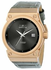 Invicta Women's Akula 100m Rose Gold Tone S. Steel Grey Leather Watch 24463
