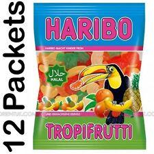 12x Haribo Tropifrutti Halal Sweets 100g Box of 12 Discount if you Buy +2 Boxes