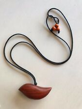 'CABO ISLAND' ➰ WOODEN NECKLACE BEADED Handmade New With Tags