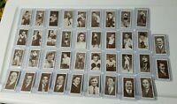 1938 Churchman Boxing Personalities Tobacco Card Lot Of 38 Rare Imperial Tobacco