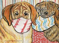 Spanish Mastiff Wall Art 9x12 Orignial Pastel Painting by Ksams Quarantine Dogs
