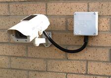 Cámara CCTV Dummy (carga solar) con caja de administración de cables (más realista)