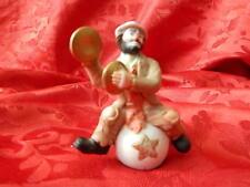 Emmett Kelly Jr Clown Figurine Sculpture Flambro playing Cymbals