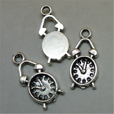 25pc Tibetan Silver clock Pendant Charms bracelets Jewelry 19mmx8mm GU740
