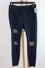 Simply Vera Wang Ripped Blue Denim Size M Medium $42.00 NWT Leggings NEW
