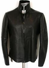 Emporio Armani Black Lamb Perforated Leather Jacket EU54 XL RRP £1640 Coat